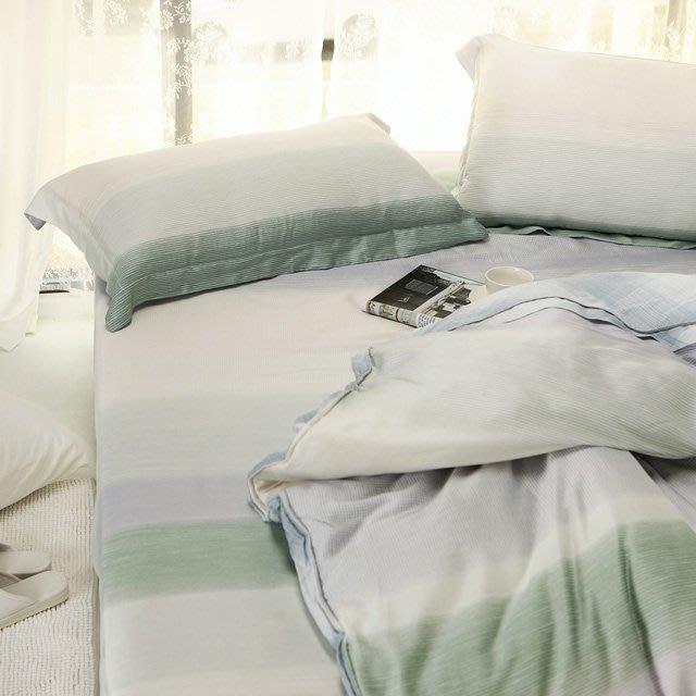 60支天絲-薄床包鋪棉被套組【十勝川】(加大6尺) -絲薇諾
