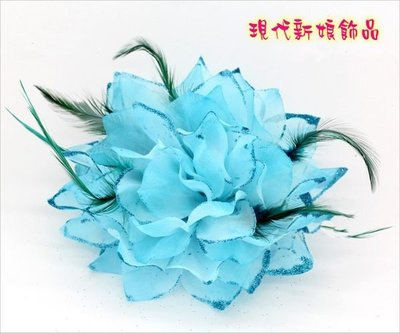 高檔婚紗禮服披肩 新娘披肩 披肩 婚紗禮服 ~C~429~瑚藍色th003頭花