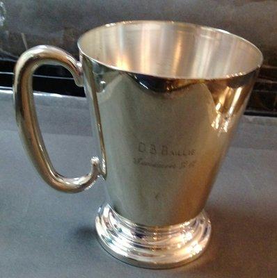 234 高級英格蘭鍍銀杯vintage presentation silver plate 1 pint tankard