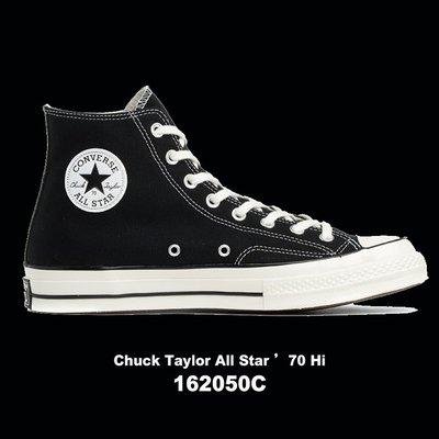 【QUEST】CONVERSE ALL STAR 1970 匡威 三星標 高筒 帆布 男女黑色 162050C