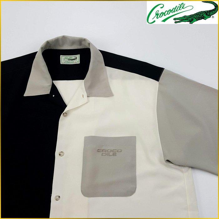 日本二手衣✈️CROCODILE 短袖襯衫 口袋 拼接襯衫 鱷魚牌 CROCODILE 日本男裝 *L号* M1982C