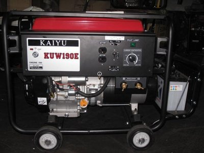 【新宇五金工具行】KAIYU KUW-190E 汽油引擎 電焊機 發電電焊機 電焊發電機!(特價)