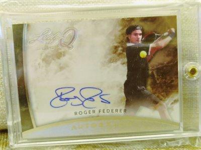 (記得小舖)Roger Federer 瑞士特快車 費爸 費神 2015 Leaf Q 親筆簽名卡 台灣現貨 稀少值得收