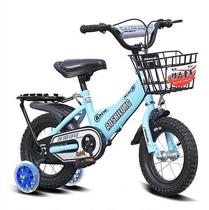 [宅大網] 800126 16吋 兒童腳踏車 戰士款 單車 自行車 靜音輔助輪 腳踏車 白色 藍色 黃色