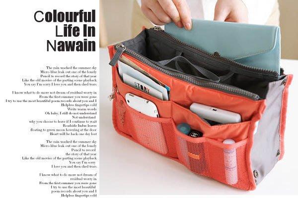 多功能包中包袋中袋收納袋包包內袋包包分隔袋包包整理袋加厚板可站立邊扣