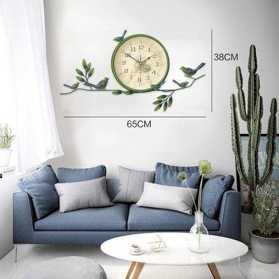 現貨/歐式田園小鳥掛鐘美式創意靜音鐘錶客廳臥室時鐘現代簡約裝飾掛錶   igo/海淘吧F56LO 促銷價