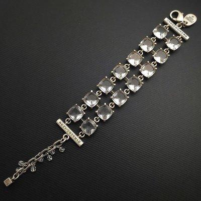 DYRBERG/KERN 透明 晶鑽 銀鍊 手鍊 來自丹麥的首飾品牌