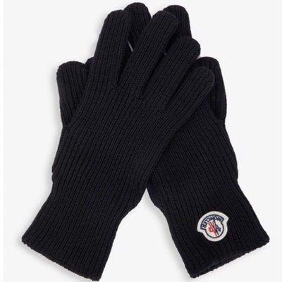 全新真品Moncler 深藍色 針織羊毛手套