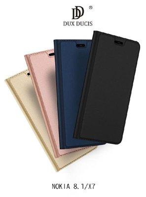 *phone寶*DUX DUCIS NOKIA 8.1/X7 奢華簡約側翻皮套 可站立 可插卡 保護套