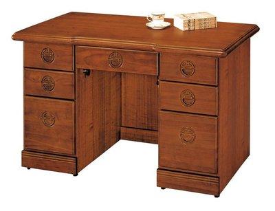 【浪漫滿屋家具】(Gp)554-4 古典香檜4.2尺辦公桌