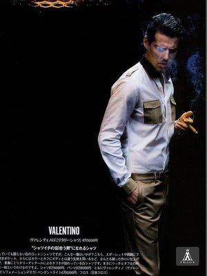 SIMPLE IMAGE(手工製作)參考最新2014Valentino軍裝襯衫a650~帥爆