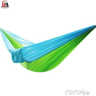 吊床 戶外吊床輕便降落傘布吊床 戶外單人雙人野營休閒吊床