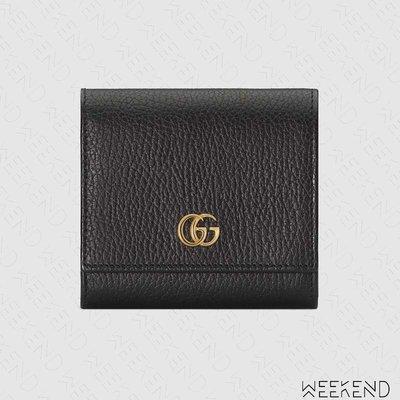 【WEEKEND】 GUCCI GG Marmont 皮夾 短夾 零錢包 黑色 598587 20春夏
