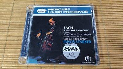 好音悅 Janos Starker 史塔克 Bach 巴赫 巴哈 無伴奏大提琴組曲 2SACD Mercury