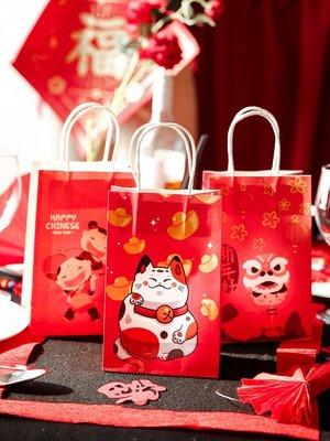 推薦#  新年包裝袋雪花酥牛軋糖春節禮物禮盒袋子小禮品糖果餅干盒手提袋/批量可議價#規格不同 售價不同