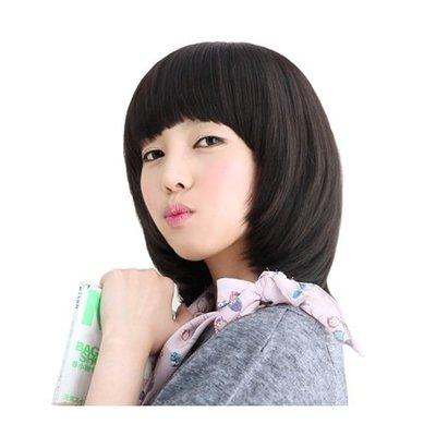整頂 假髮 真髮絲-簡潔齊瀏海可愛短髮女假髮2色73vc19[獨家進口][米蘭精品]