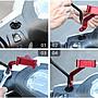 雷神機甲☆雙爪架(可旋轉)附綁帶☆適用於鏡座☆鋁合金屬重機車導航手機支架行車紀錄器配件