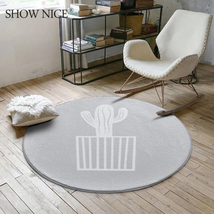 YEAHSHOP 北歐時尚圓形地毯 茶幾臥室房間Y185