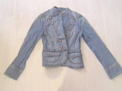 98% 新【Esprit】修腰牛仔外套 Lady 1968 Blue Jean Jacket(Size XS)原$950