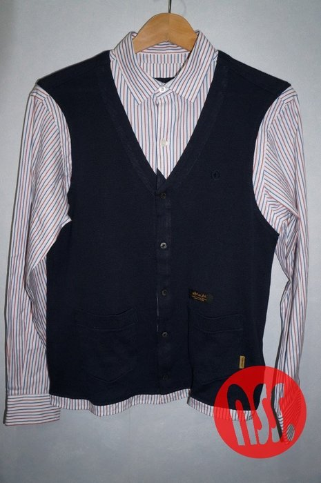 「NSS』NEIGHBORHOOD CHANNEL 7 C-SHIRT 條紋 線條 假兩件 長袖襯衫 S