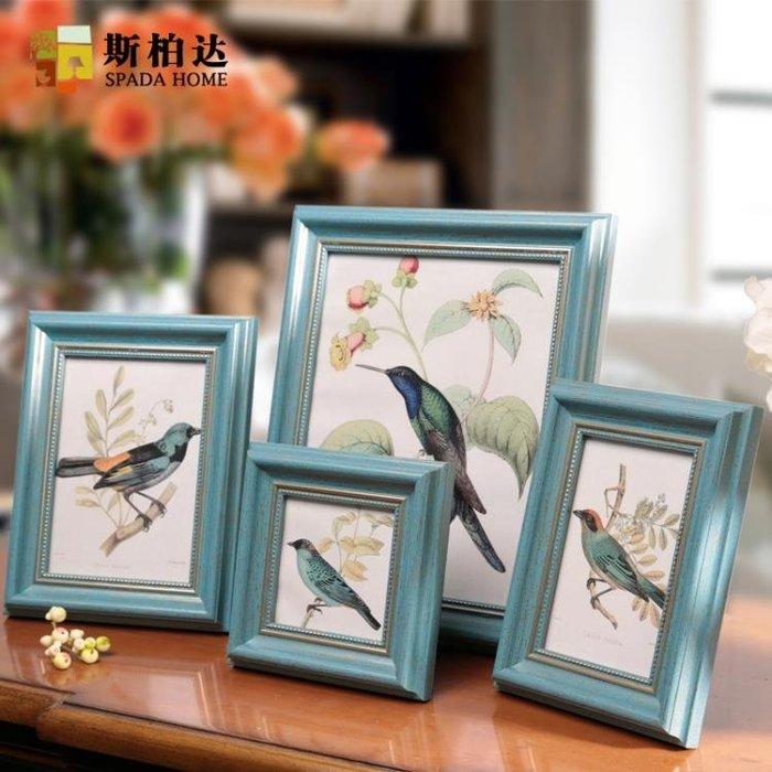 復古歐式相框擺台創意畫框美式照片框組合掛牆6寸7寸10寸營業執照