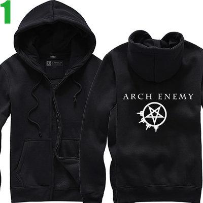 Arch Enemy【罪惡之神】連帽厚絨長袖死亡金屬搖滾樂團外套(共5種顏色可供選購) 新款上市購買多件多優惠【賣場一】