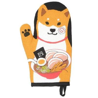 柴犬招手開飯囉 隔熱手套  可愛趣味的設計 增添廚房生活樂趣