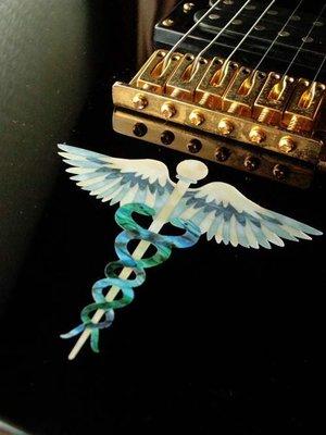 園之屋 現貨 日本 Inlay sticker 雙蛇杖 權杖 護板/琴身貼紙 民謠吉他 電吉他 貝斯