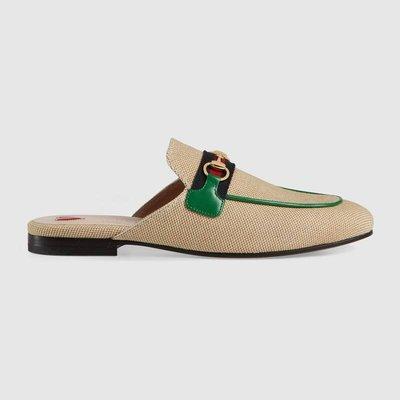 【代購】限定款 Gucci Princetown canvas slipper 穆勒鞋