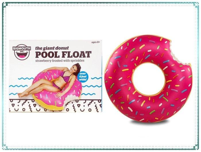 【Q寶寶】美國 BigMouth 正品 創意個性甜甜圈游泳圈 122x122x33cm_現貨