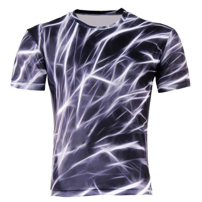 印花t恤2016外貿爆款男士修身夏季短袖休閒t恤 3D印花T恤 修身t恤
