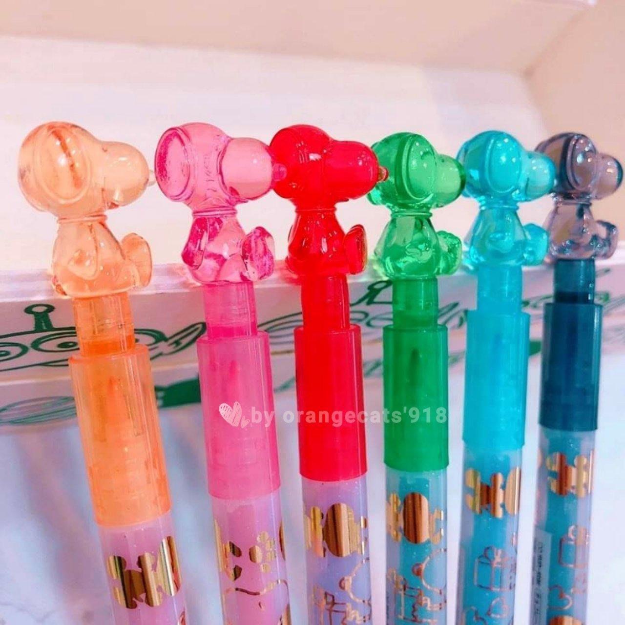 ☆橘子貓的918号店☆ 現貨 日本製 立體造型筆蓋 snoopy 史努比 雙頭(細/粗) 有色 簽字筆