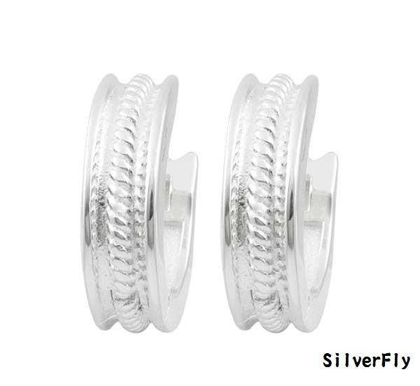 簡約麻花純銀易扣耳環《 SilverFly銀火蟲銀飾 》