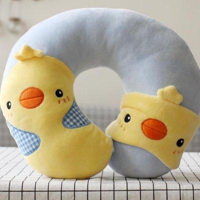 可愛卡通u型枕帶眼罩U形護頸枕午睡午休辦公室枕飛機旅行枕