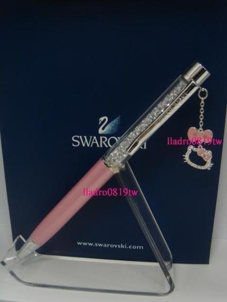 (附提袋保卡)~全新台灣專櫃正品~施華洛世奇水晶筆 細桿(粉紅 Hello Kitty 限定版)SWAROVSKI