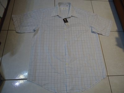 Valuable短袖淡藍色條紋襯衫,尺寸:16,全新未穿,標籤未剪,特價大出清