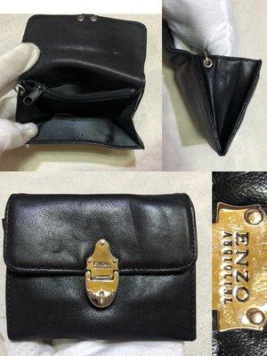 低價起標~ 專櫃品牌ENZO ANGIOLINI 牛皮名片夾 零錢包 信用卡夾 小皮夾 似Bally Fossil Ck