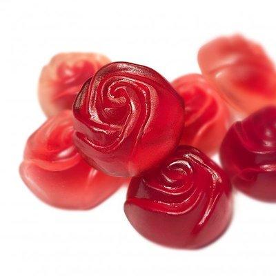 [A+F德國代購] Bären-treff 玫瑰造型 軟糖 500g 莓果口味(Baeren-treff) 水果QQ糖