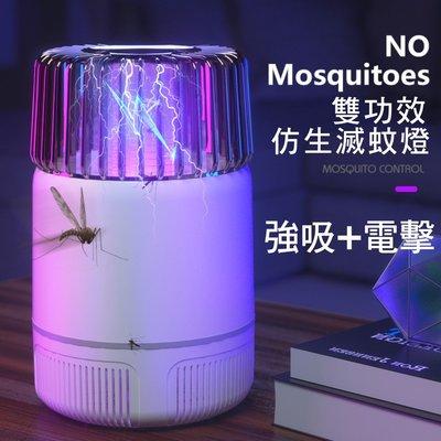 雙功效 吸入電擊 捕蚊燈 滅蚊燈 LED光催化 補蚊燈 防蚊 電蚊