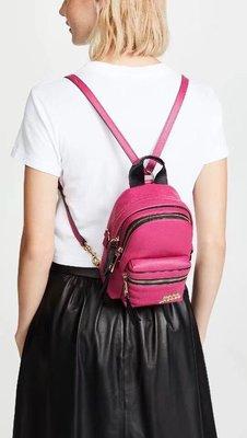 ╭☆包媽子店☆Marc Jacobs Micro Backpack 迷你款真皮背包((黑色跟桃紅色))
