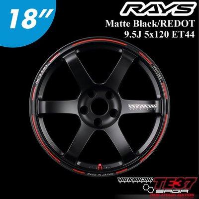 "【Power Parts】RAYS TE37 SAGA TIME ATTACK 18"" 9.5J 5x120 ET44"