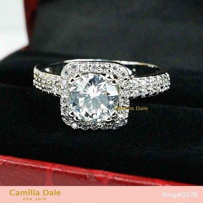 卡蜜拉黛兒水晶飾品配件 梵斯方形鋯石戒指