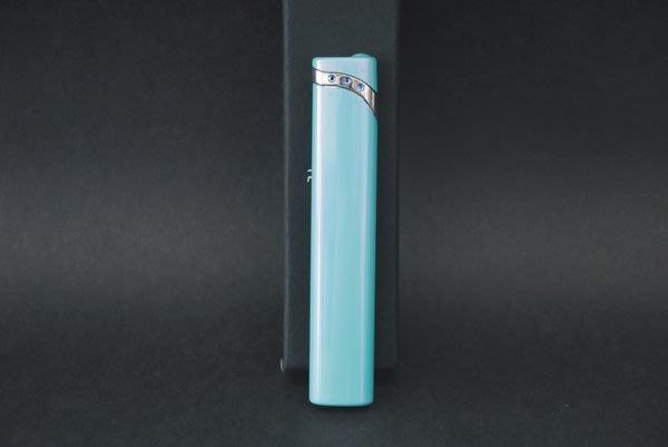 ONE*$1~PEARL珍珠*香檳藍《電子*打火機 》施華洛世奇水晶鑽 *編號:2-93969-30