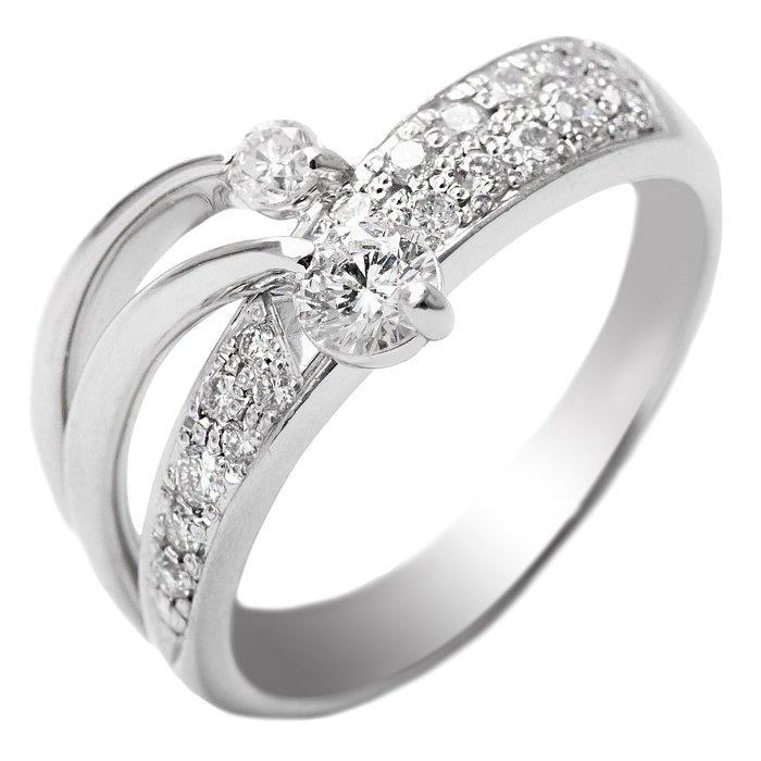 【JHT金宏總珠寶/GIA鑽石專賣】0.21ct雙子流星天然鑽石戒指/材質:18K(JB53-A04)
