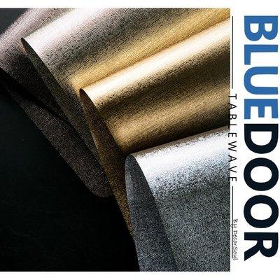 BlueD_ 香檳金 金色 銀色 PVC 長方形 耐熱 餐墊 桌墊 餐桌墊 奢華 隔熱桌布 現代設計廚房 網美風 IG款
