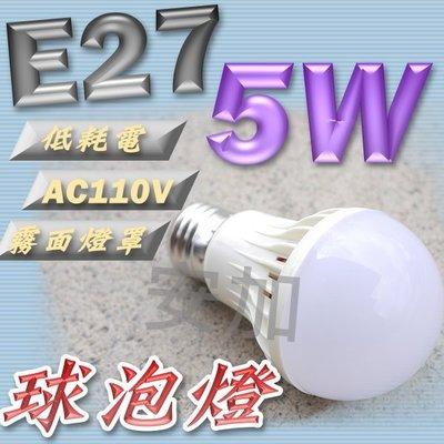 現貨 F1C29 E27 5W LED 球泡燈 白 LED省電燈泡 照明燈 氣氛燈 檯燈 霧面燈罩 E27塑膠燈泡