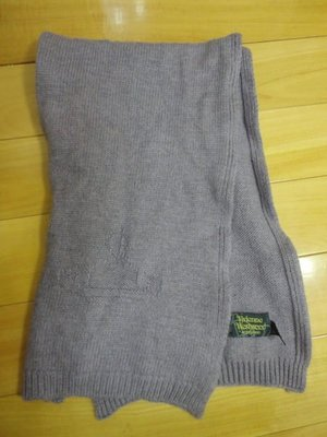 專櫃正品Vivienne westwood羊毛圍巾~