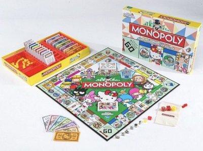 全新 SANRIO GAME MASTER MONOPOLY 限定版 大富翁 HELLO KITTY MELODY
