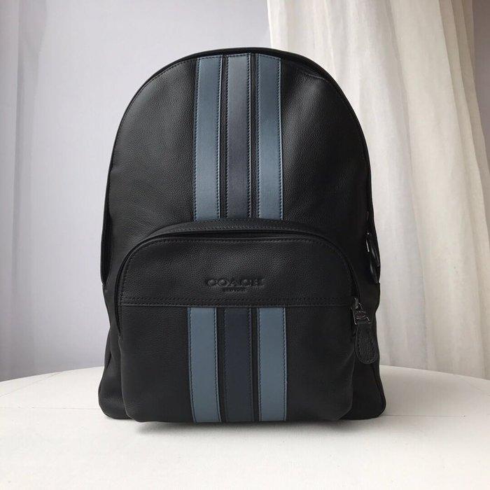 風格 COACH 全新正品 68995 新款經典條紋旅行包/書包 雙肩後背包 大容量 現貨 全場特價 附購買證明