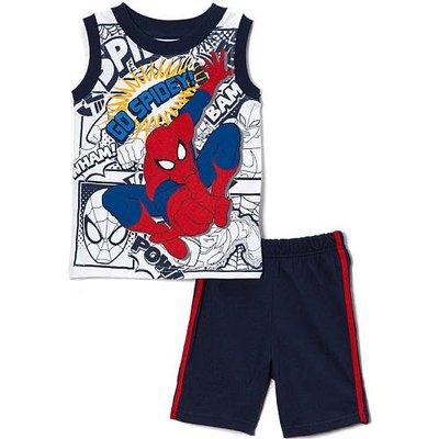 【Nichole's歐美進口優質童裝】Marvel蜘蛛人無袖上衣+短褲二件組2T*另有Carter's/OshKosh